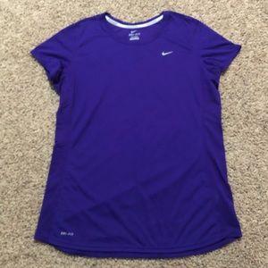 Nike Running Dri-Fit Crew Neck T-shirt Purple